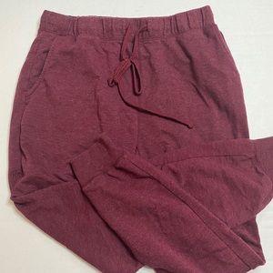 Heather Maroon Jogger Sweatpants